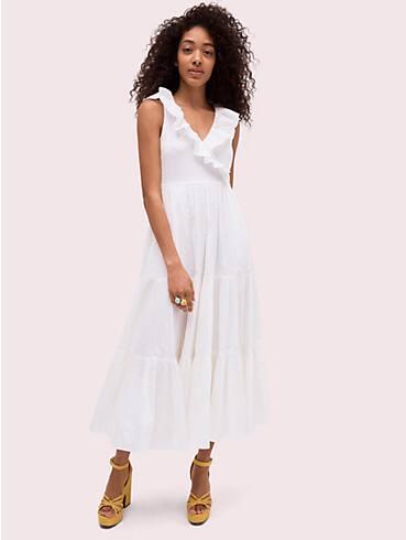 poplin ruffle tiered dress, , rr_productgrid