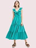poplin ruffle tiered dress, , s7productThumbnail