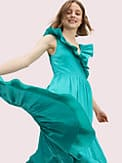 poplin ruffle tiered dress, , s7productThumbnail