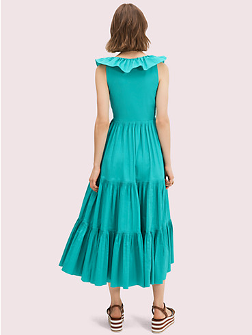 poplin ruffle tiered dress, , rr_productgrid