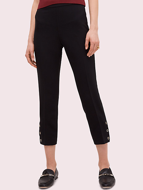 side snap pant, black, large by kate spade new york