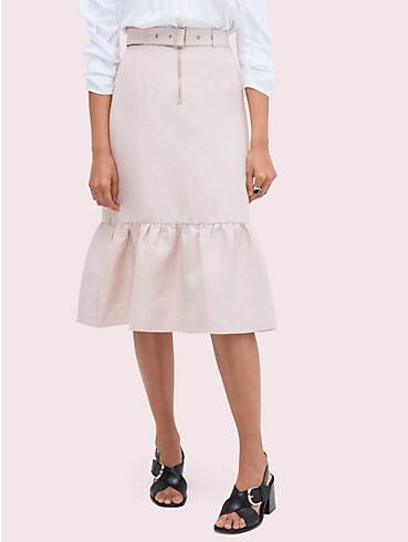 belted linen flounce skirt, , rr_productgrid