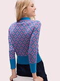 spade flower polo sweater, , s7productThumbnail