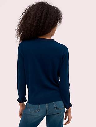 ruffle cardigan by kate spade new york hover view