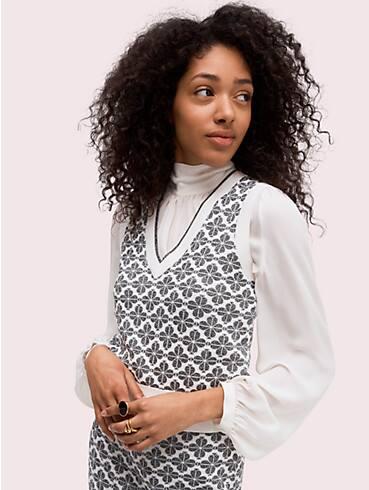 spade flower sweater vest, , rr_productgrid