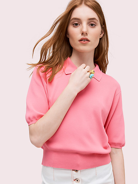 solid polo sweater by kate spade new york
