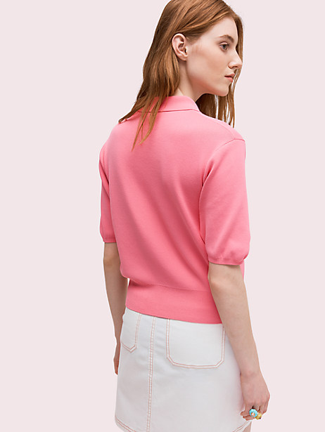 Solid polo sweater | Kate Spade New York