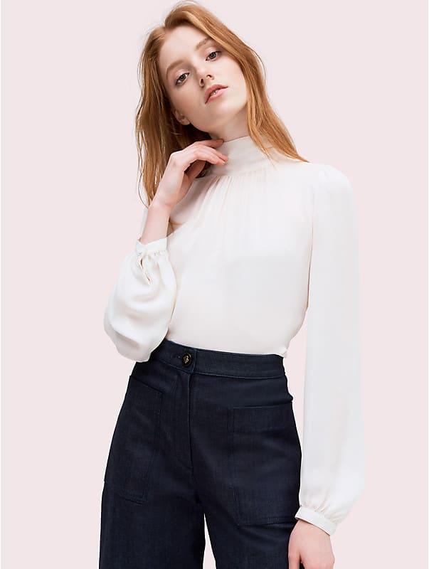 Hochgeschlossene Bluse, , rr_large