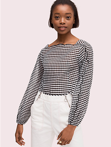 embroidered gingham blouse , , rr_productgrid