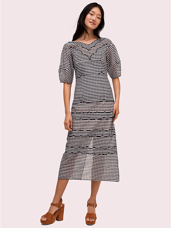 embroidered gingham dress , , rr_large