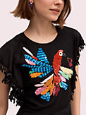 embellished parrot dress , , s7productThumbnail
