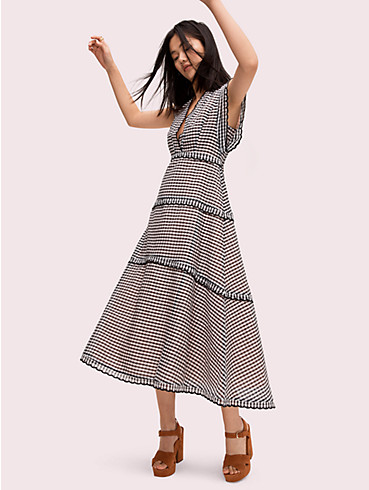 gingham midi dress, , rr_productgrid