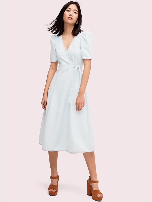denim wrap dress , , rr_large