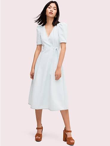 denim wrap dress , , rr_productgrid