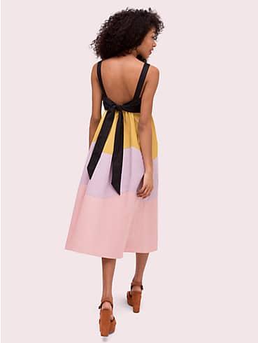 scallop blocked midi dress, , rr_productgrid