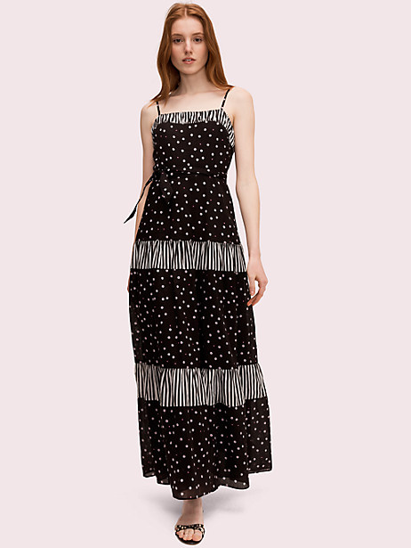 daisy dot mixed maxi dress by kate spade new york