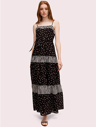 daisy dot mixed maxi dress , , rr_productgrid