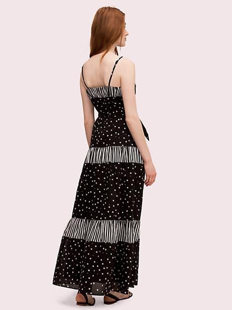 Daisy dot mixed maxi dress   Kate Spade New York