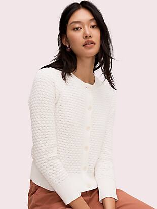 textured cardigan by kate spade new york non-hover view