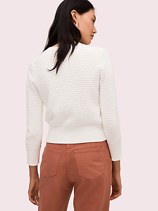 textured cardigan by kate spade new york hover view