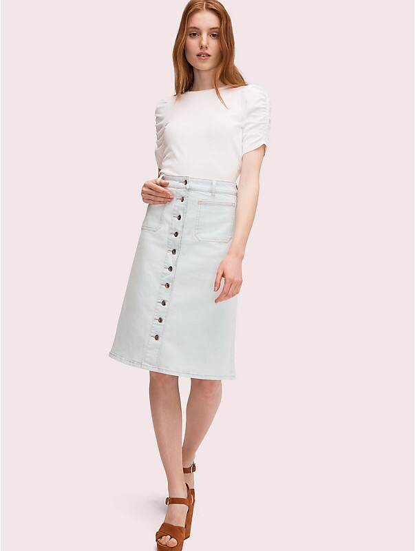denim button midi skirt , , rr_large