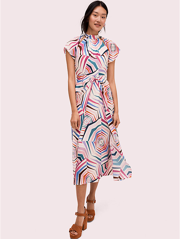 geobrella silk midi dress , , rr_large
