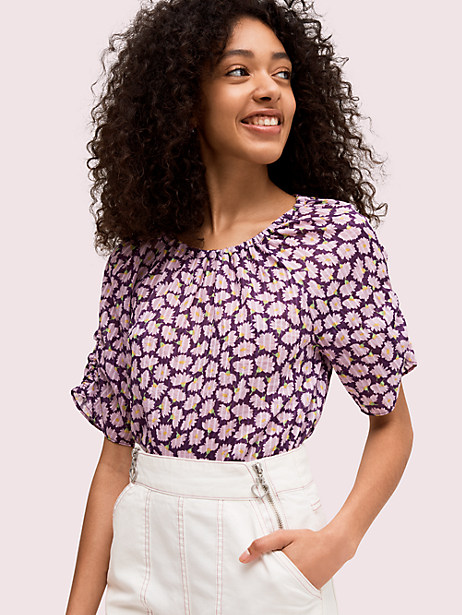 sunny bloom tie back top by kate spade new york