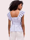 ruffle neck tie waist top, , s7productThumbnail