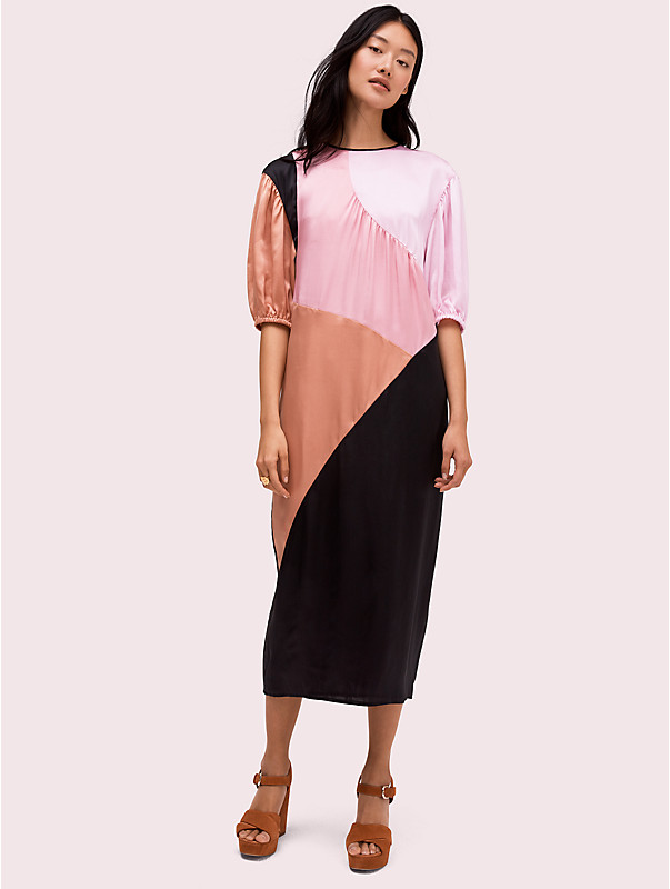 colorblock midi dress , , rr_large