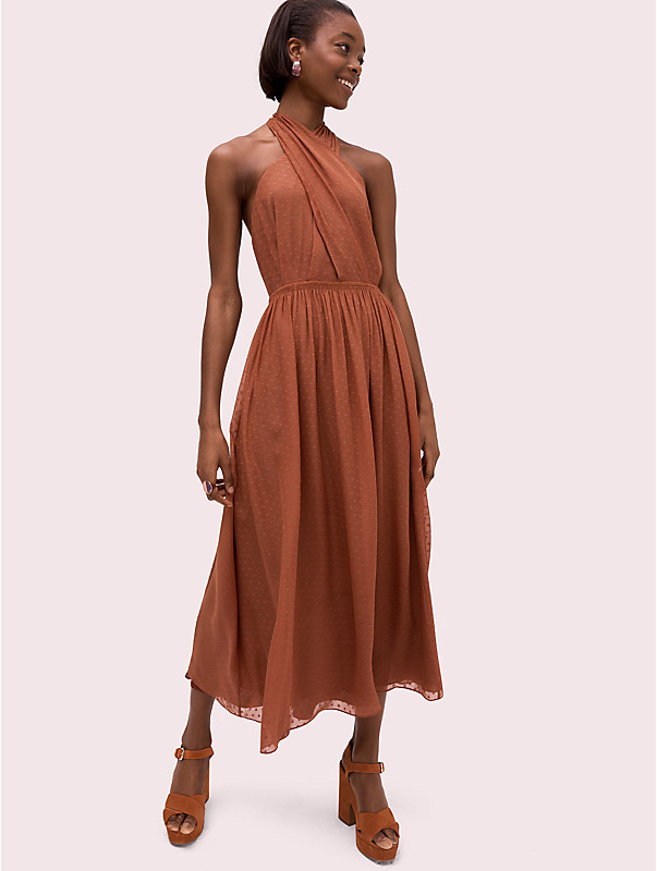 silk halter midi dress, , rr_large