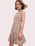Ärmelloses Kleid aus kariertem Tweed, , s7productThumbnail