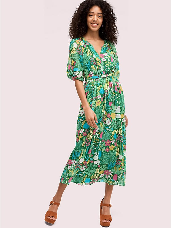 garden posy silk dress, , rr_large