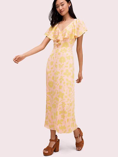 splash satin midi dress by kate spade new york