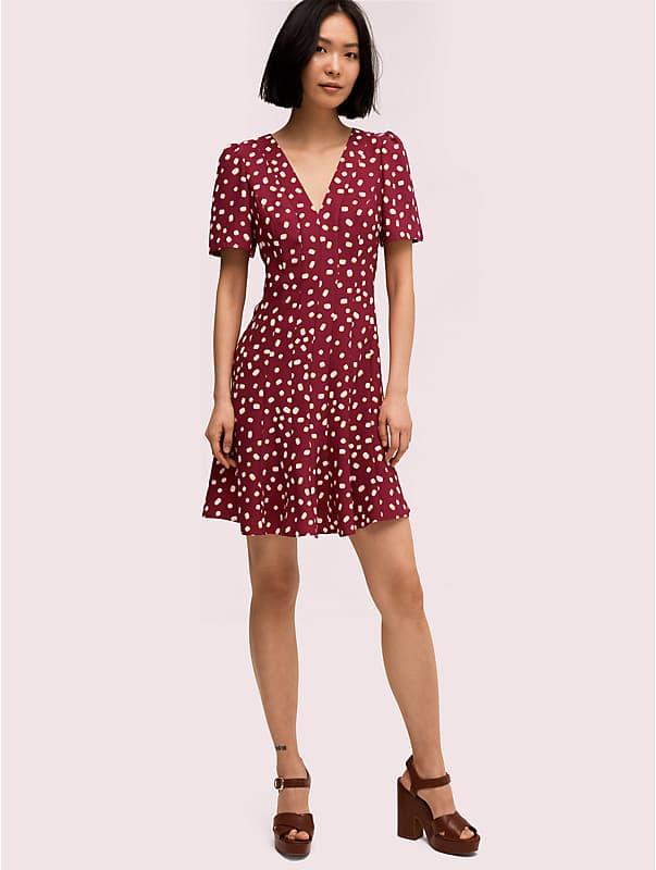 mallow dot crepe dress, , rr_large