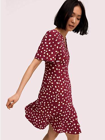 mallow dot crepe dress, , rr_productgrid