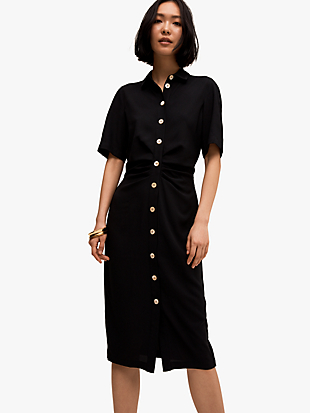 button front shirtdress by kate spade new york non-hover view
