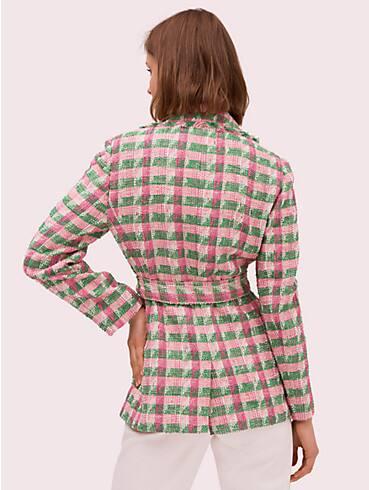 plaid tweed blazer, , rr_productgrid