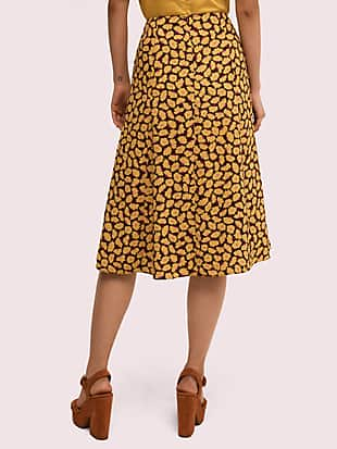 sunny bloom midi skirt by kate spade new york hover view