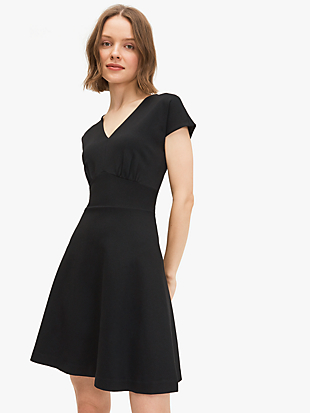 ponte v-neck dress by kate spade new york non-hover view
