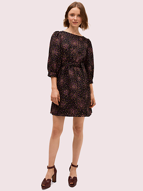 disco dots dress, black, large by kate spade new york