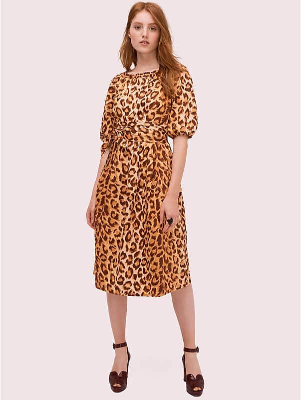 panthera puff sleeve dress, , rr_large