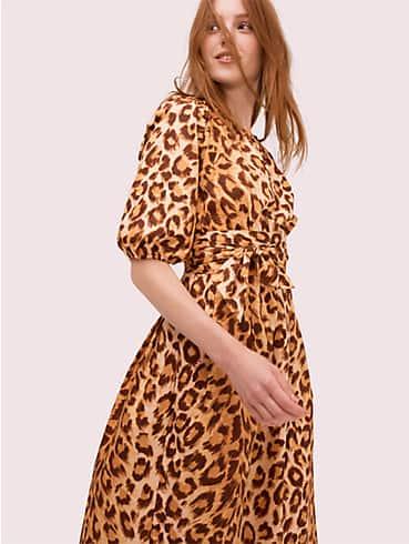 Panthera Kleid mit Puffärmeln, , rr_productgrid