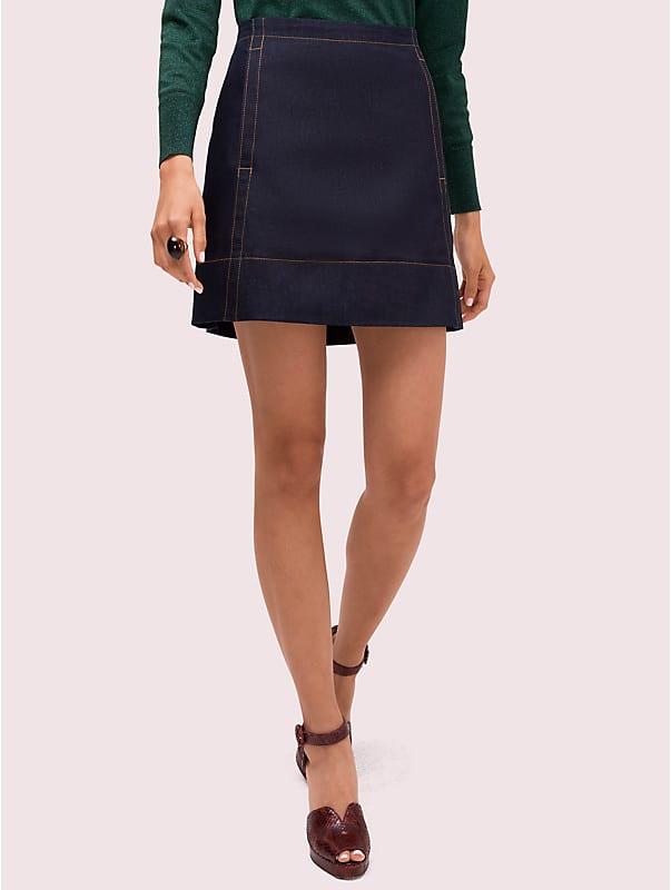 denim mini skirt, , rr_large