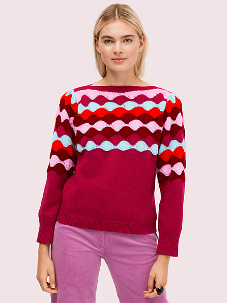 scallop intarsia sweater by kate spade new york