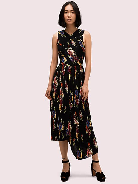 rare roses pleated dress by kate spade new york