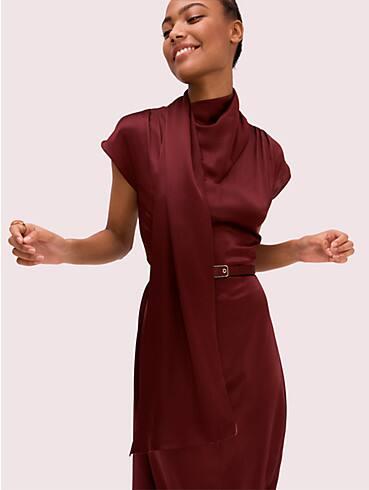 silk wrap neck dress, , rr_productgrid