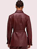 leather tie waist jacket, , s7productThumbnail