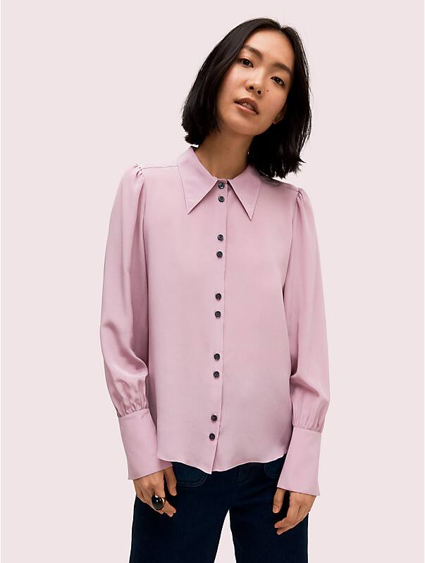 silk point collar blouse, , rr_large