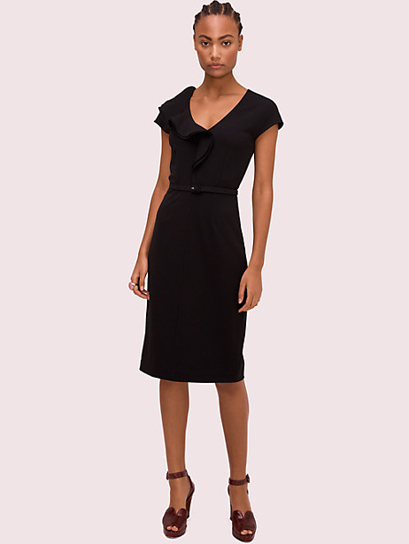 ruffle matte crepe dress by kate spade new york