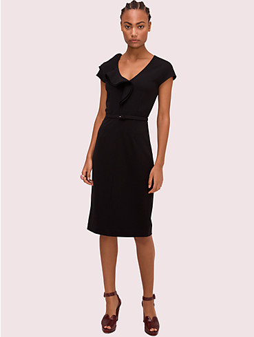 ruffle matte crepe dress, , rr_productgrid